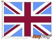 UNION JACK CLARET AND BLUE ANYFLAG RANGE - VARIOUS SIZES